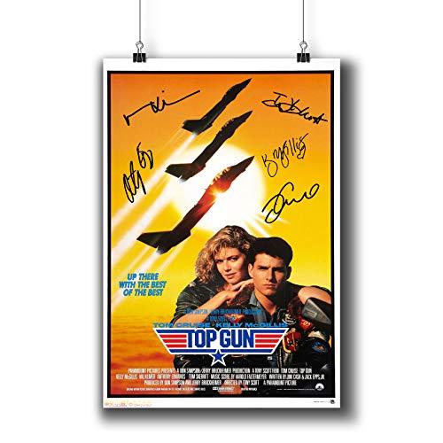 Pentagonwork Top Gun (1986) Movie Photo Poster Prints 642-003 Reprint Signed Casts,Wall Art Decor Gift (A3 11x17inch 29x42cm)
