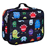 Wildkin Insulated Lunch Box Bag for Boys and Girls Perfect Size for Packing Hot or Cold Snacks for School and Travel, Mom's Choice Award Winner, BPA-free, Olive Kids, Monsters