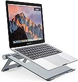 Nulaxy Soporte para Laptop, Soporte de Portátil Ajustable, Laptop Stand para 11-15.6 Pulgadas MacBook/Ordenadores Portátiles/Notebook,Hecho de Aleación de Aluminio,Plata … (Grey)