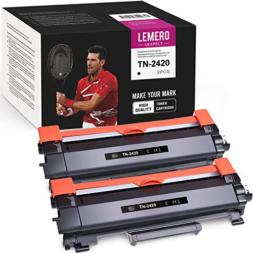 LEMERO UEXPECT TN-2420 TN2420 Kompatibel für Brother TN2420 TN-2410 Toner für Brother HL-L2310D HL-L2350DN HL-L2370DN HL-L2375DW MFC-L2710DN MFC-L2710DW MFC-L2750DW DCP-L2510D DCP-L2530DW(2 Pack)
