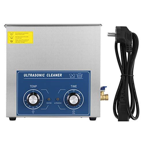 Limpiador ultrasónico digital 2L/6L/10L/14L/22L, limpiador ultrasónico de acero inoxidable con temporizador digital, para la limpieza de joyas, pulseras, anillos, collares, relojes, gafas (14 L)