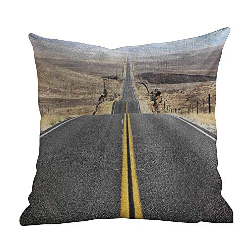 Matt Flowe Custom Zippered Pillow Cases Landscape Grey Decorations Sofa Throw Pillow Case Cushion Cover One Sided Printed 14'x14'inch