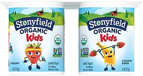 Stonyfield Organic Stonyfield Yokids Ban/Straw, Strawberry, 4 oz