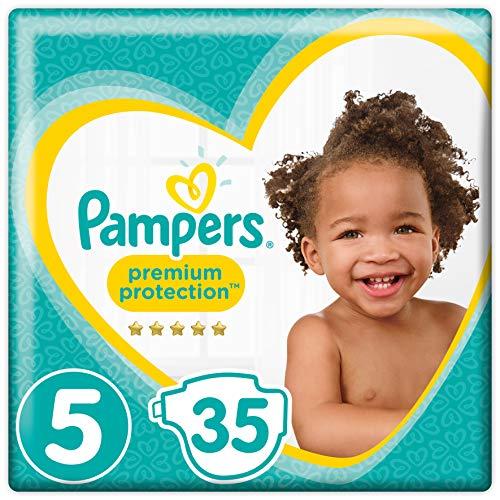 Pampers Premium Protection Windeln, Größe 5 Junior (11-16 kg), 1er Pack (1 x 35 Stück)