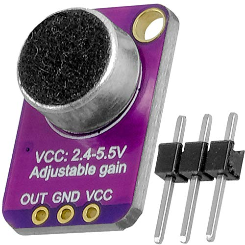 AZDelivery GY-MAX4466 Electret Microfono Amplificador, Breakout Sensor MAX4466 compatible con Arduino y...