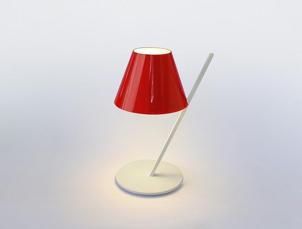 Artemide la petite,lampada da tavolo led bianco/rosso ,in alluminio e plastica 1751010A