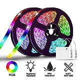 LED Ruban 4M, SOLMORE Bande LED a Pile 2x2m Bande RGB Luminaire Battery Boite à Pile...
