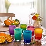 Zoom IMG-1 set bicchieri in vetro colorato