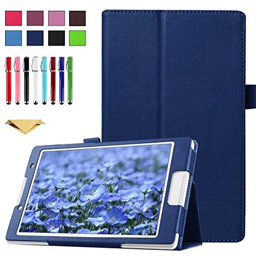 TianTa Funda para ASUS ZenPad Z170C, Z170CG, Z170MG, PU Cuero Slim Folding Soporte Cover Case con Auto Sleep/Wake para ASUS ZenPad 7 Pulgada Tablet (Z170C/Z170CG/Z170MG/P01Z), Azul