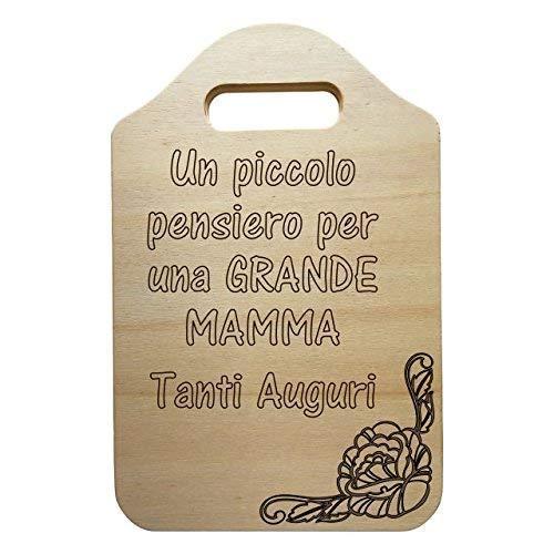TAGLIERE DECORATIVO personalizzabile in legno Festa della mamma REGALO di Compleanno personalizzato