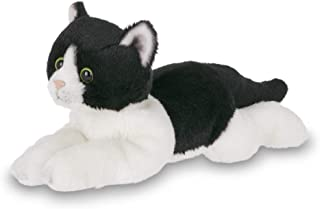 Bearington Lil' Domino Small Plush Stuffed Animal Black and White Tuxedo Cat, Kitten 8 inches