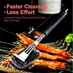 Qomolo Grill Brush 3 in 1 BBQ Grill Brush with Strong Stainless Steel Scraper Grill Cleaning Brush for Charcoal Electric… 9