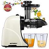 Masticating Juicer Machines, Hethtec Slow Cold Press Juicer Quiet Motor, Reverse Function, High...