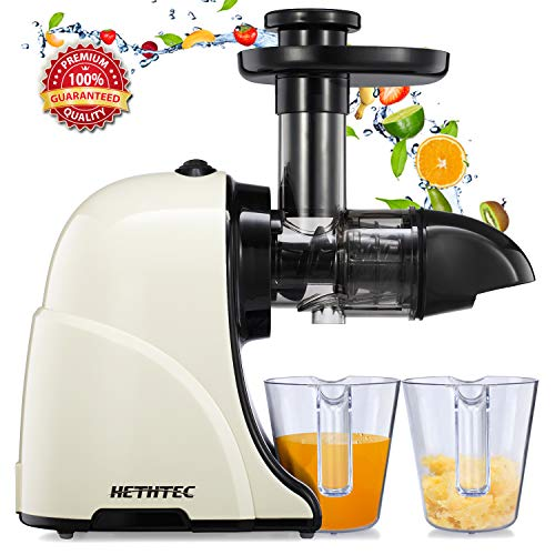 Buy Discount Masticating Juicer Machines, Hethtec Slow Cold Press Juicer Quiet Motor, Reverse Functi...