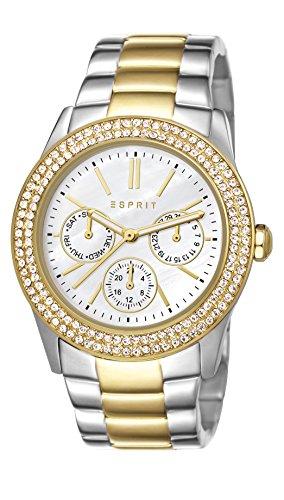 Esprit Damen-Armbanduhr Peony Analog Quarz ES103822015 Silber/Gold