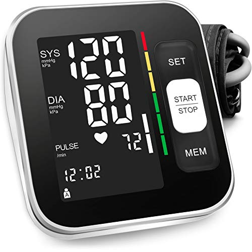 """Blood Pressure Monitor Upper Arm Automatic Digital BP Meter 2x120 Reading Memory Voice Broadcast Backlight Display 8.7""""-15.7""""Wide Range Cuff Fast..."""