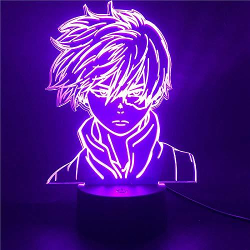 Lámpara De Ilusión 3D Luz De Noche Led Anime My Hero Academia...