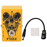 Electric Guitar Effect, Fuzz Effect Pedal All-Metal Shell Long Service Life for Guitarist for Music Club for Outdoor Performance for Music Lovers