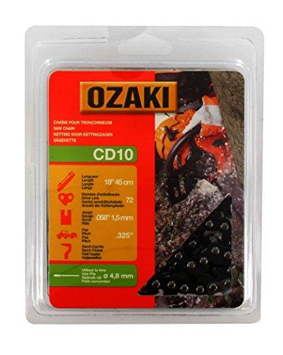 Ozaki - Motosierra de cadena de 325, 72 eslabones de arrastre, 0.058-chip (1,5 mm)