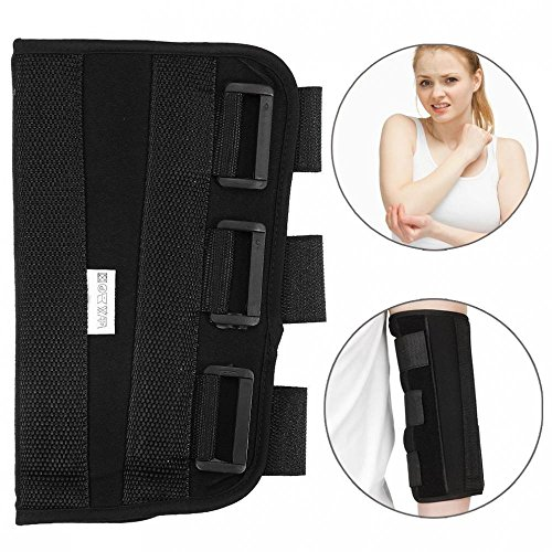 Codera PM Night Splint, brazo plegable para codo, férula de apoyo, férula ortopédica, cinturón ajustable, protección contra el deslizamiento, correa para envolver, funda protector(L)