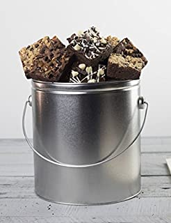 Chocolate Brownie Bucket in One Gallon Reusable Gift Tin from Stew Leonard's Gifts
