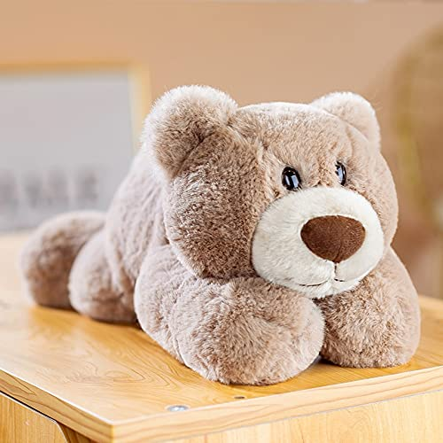 30cm-70cm Kawaii Lying Bear Juguetes de Peluche Adorable Oso Almohada muñecos de Peluche bebé niños Regalo de cumpleaños 30cm marrón