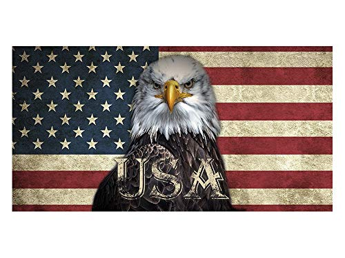 GRAZDesign Sichtschutzfolie USA mit Adler Flagge, Bedruckte Fensterfolie, Glasdekorfolie als Sichtschutz, 80x57cm