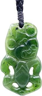 New Zealand Maori Greenstone Jade HEI Tiki Pendant