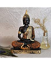 Handicraft Hub India Polyresin Antique Handcrafted Sitting Lord Buddha Idol Statue Decorative Showpiece for Living Room Home Decoration and Gift Items   Made in India