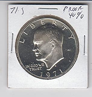 1971 S Eisenhower (IKE) Dollar 40% Silver -Proof- Coin $1 Choice Uncirculated