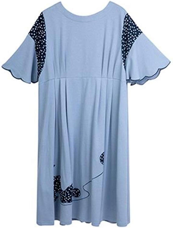 Bathrobes Cotton Pajamas Women's Simple Fashion Nightdress Loose Home Service (Size   XL)