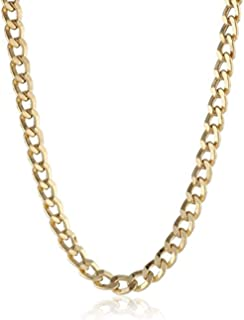 18K Solid Yellow Gold Heavyweight 3.8mm Cuban Curb Link Chain Necklace- Made in Italy-18 Karat