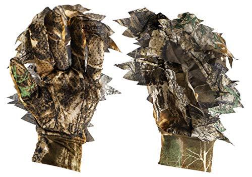 Titan 3D Handschuhe mit Blättern, echtes Baumkantenmuster