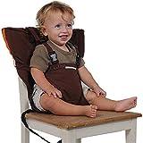 Uni Meilleur Bébé Portable Chaise Haute Voyage Sièges Housse de Sécurité pour Tout-Petits Chaise Haute Sangle Infantile Ceinture Sangle De Siège D'alimentation (marron)