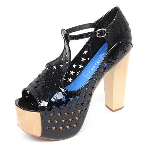 Jeffrey Campbell D2230 Sandalo Donna Foxy Star Scarpe Nero Shoe Woman [40]