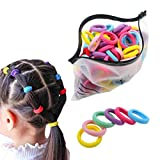 200 Pack Candy Color Girls' Elas...