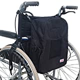 Durable Oxford Cloth Wheelchair Bag for Back of Chair with Pockets Mobility Devices Accessory Wheelchair Backpack Storage Carrier Bag Fits for Most Wheelchairs
