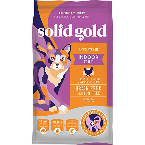 Solid Gold Let's Stay In Indoor Cat Chicken, Lentil & Apple Recipe for Adult Cats, 6 lb