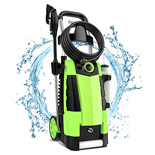 TEANDE 3800PSI Electric Pressure Washer, 2.8GPM 1800W 3800PSI High Pressure Washer for Cars Fences Patios Garden Cleaning