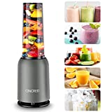 [Updated 2020 Version] Personal Countertop Blender for Milkshake, Fruit Vegetables Drinks, Smoothie, Small Mini Portable...