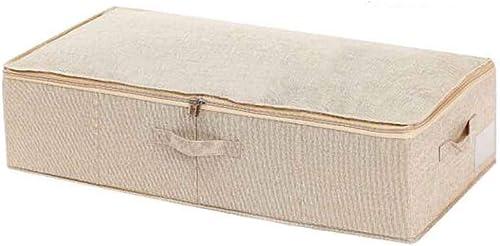 HENGTONGTONGXUN Boîte de Rangement, Boîte de Rangement multifonctionnelle en Tissu, Boîte de Rangement grise Blanche Marron Verte, Boîte de Rangement pour vêtements de Grande Taille