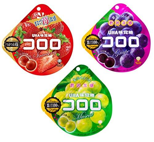 UHA味覚糖 コロロ アソート 3種4個セット(ストロベリー×2・グレープ×1・マスカット×1)