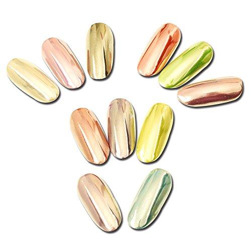 Sunenjoy Magic Mirror Argent Chrome Caméléon Poudres à ongles Holographique Effet laser Nail Art Glitter poussière Pigment Gel de vernis Décorations