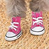 DAUERHAFT Zapatillas de Deporte Rosa para Perros, Zapatos para Perros, diseño de Suela Antideslizante(3 Yards)