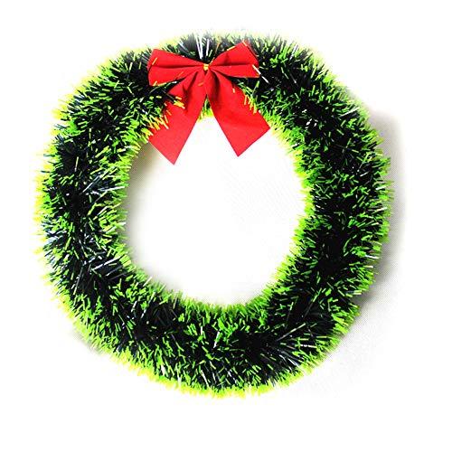 MoGist Corona de Navidad Fácil Lazo Corona de Navidad decoración Guirnalda Christmas Wreath Puerta Corona Corona...