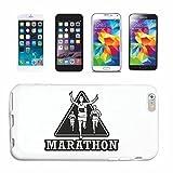 Reifen-Markt Hard Cover - Funda para teléfono móvil Compatible con Apple iPhone 7 Marathon Marathon Corredor de maratón EE.UU. Camisa Marathon Media MARATÓN DE San
