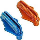 Center Scriber Marking Tools Line Scriber Woodworking Marking Offset Marking Tool Marking Center Finder Tool Wood Scribe Marking Gauge Fits Standard Wooden Pencils 2 Pack (Orange+Blue)