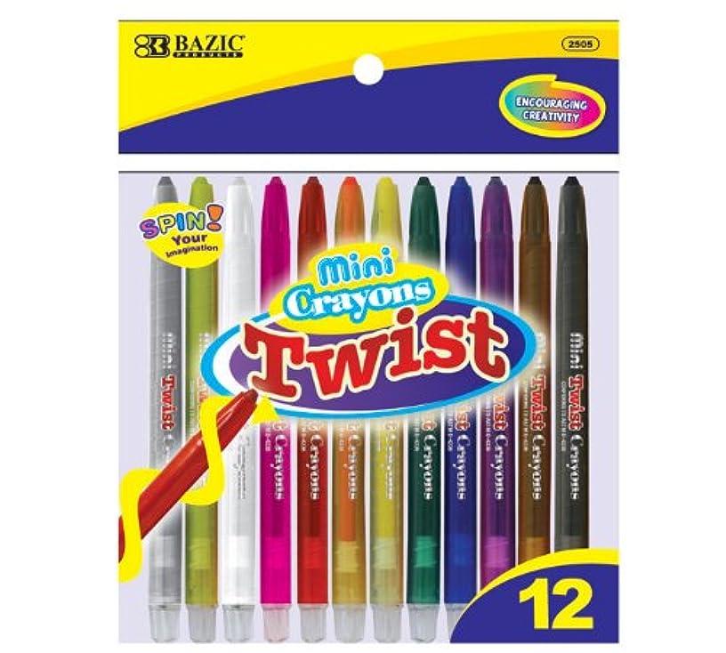 BAZIC 12 Color Mini Propelling Crayon (2504-12P)