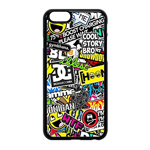 SUBLIMATION 2D Cover TPU STICKERBOMB Smile Adesivi per Vari MODELI (iPhone 6/6s)