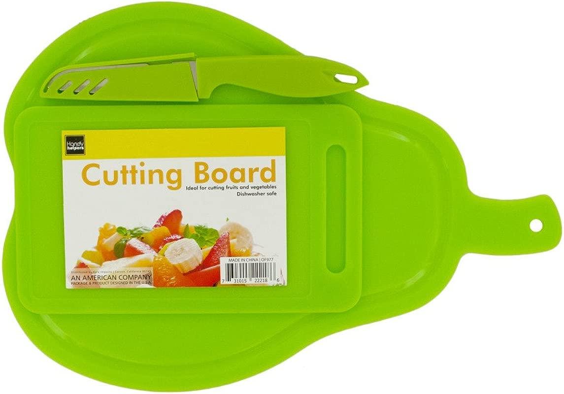 Kole OF977 Pear Shape Cutting Boards And Knife Set Regular